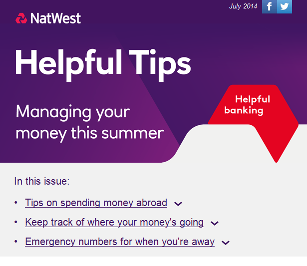Natwest Summer Email 1