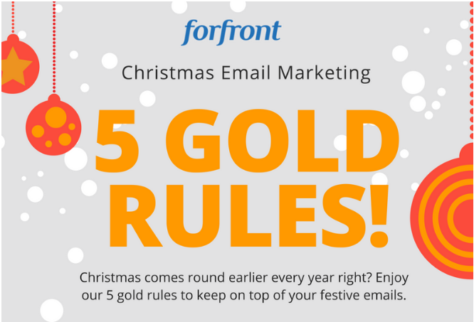 Five Gold Rules - Christmas emails